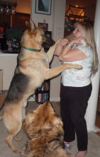 Debby dancing with Jacob - Sammy watches.
